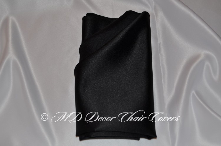 Black satin lamour napkin