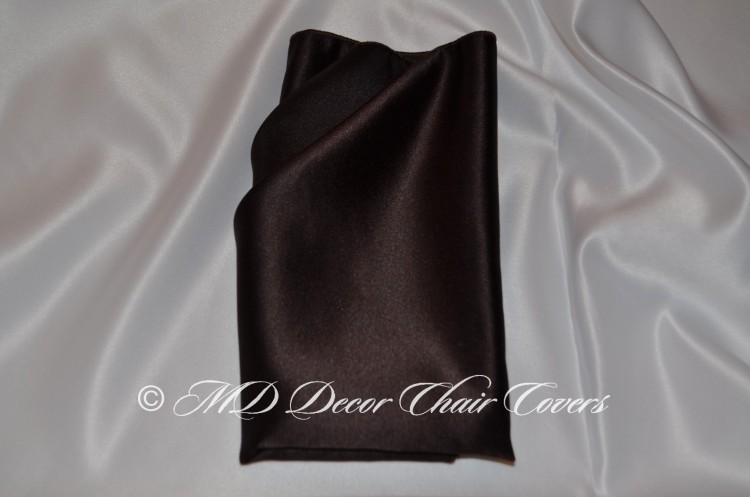 Chocolate satin lamour napkin