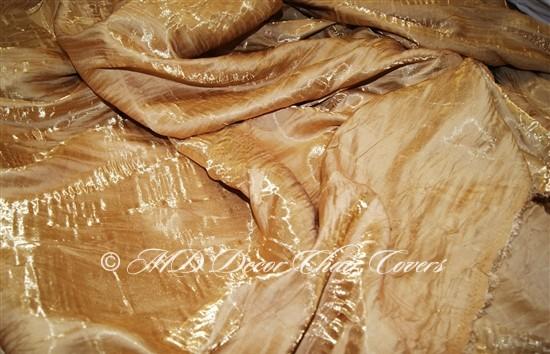 Crush Shimmer Gold Table Overlay