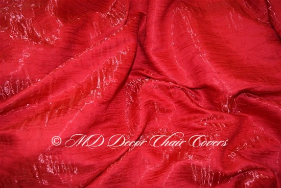 Crush Shimmer Rio Red Table Overlay