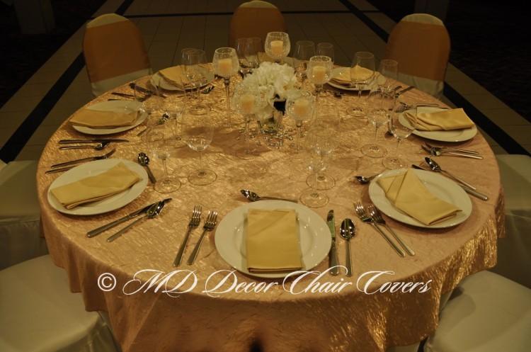 Gold Shimmer Crush Table Overlay