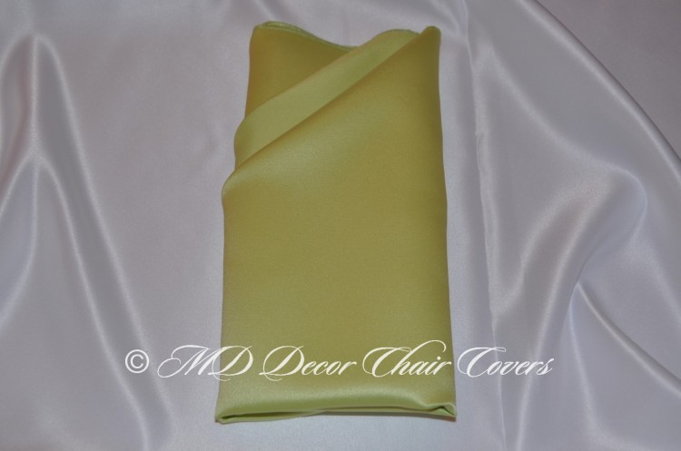 Lime Green satin l amour napkin