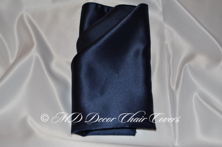 Navy blue satin lamour napkin
