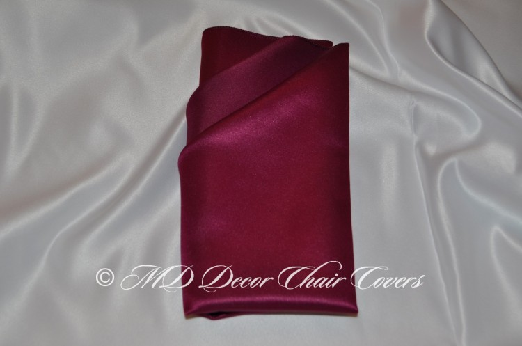 Wine satin lamour napkin