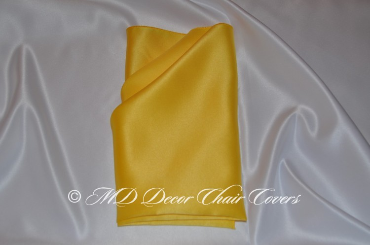 Yellow blue satin lamour napkin