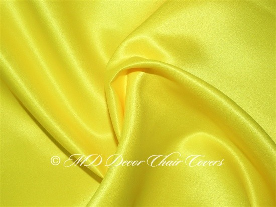 CANARY YELLOW SATIN LAMOUR