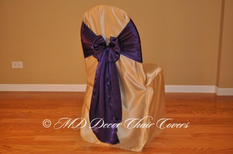 Deep Purple Butterfly Bow Style