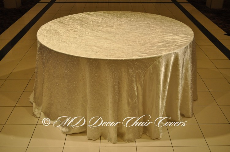 Ivory-Crushed-Satin-Tablecloth