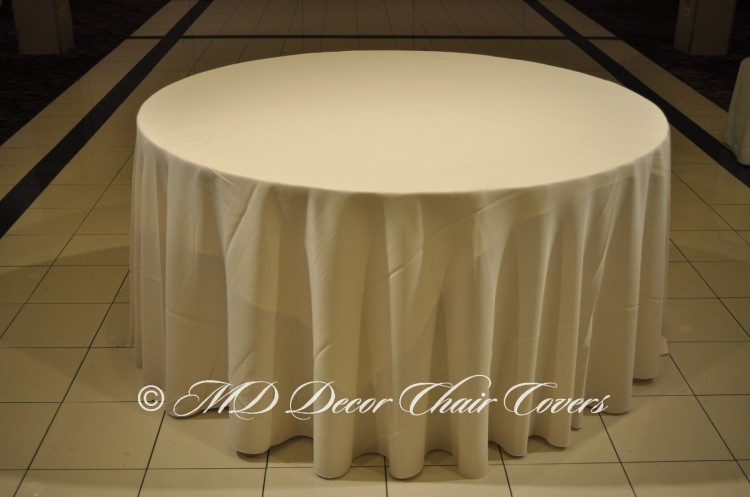 Ivory-Polyester-Tablecloth