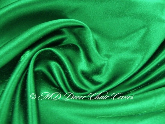 Kelly Green Satin Lamour