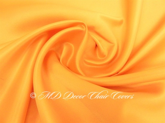 LIGHT ORANGE SATIN LAMOUR