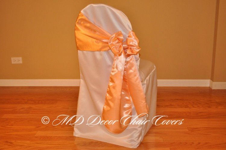 Peach Butterfly Bow Style On The Side