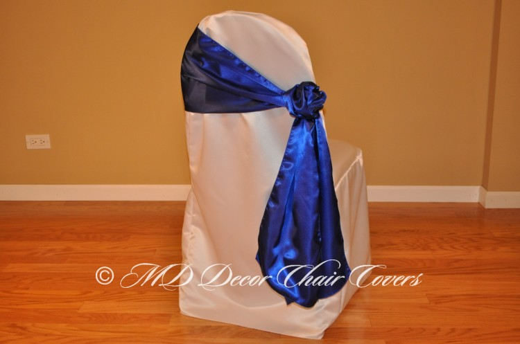 Royal Blue Rose Style On The Side
